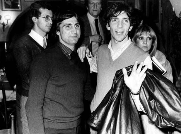 Paolo Rossi e Bruno Giordano: i due attaccanti, rispettivamente di Perugia e Lazio, furono squalificati per aver condizionato l'andamento di alcune partite di A nel campionato 1979-80 (Fotogramma)
