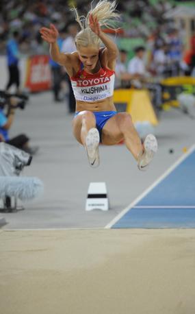 Dariya Klishina, 20 anni compiuti in gennaio, detiene il record russo juniores con la misura di 7,03 m seconda misura al mondo per questa categoria (Afp/Jung Yoen-je)