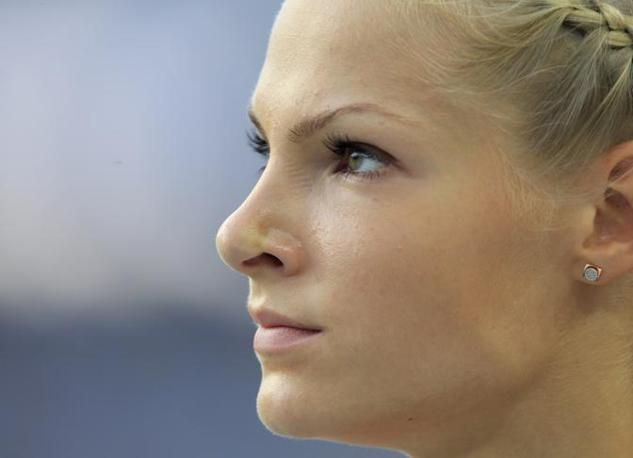 In Russia la giovane saltatrice sta diventando una star: grazie alla sua bellezza ha gi� girato alcuni spot per la Red Bull (Ap/Lee Jin-man)