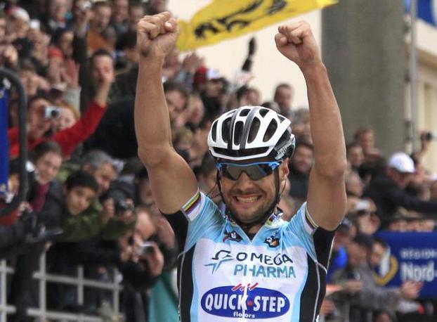 E il belga può finalmente esultare (Reuters/Pascal Rossignol)