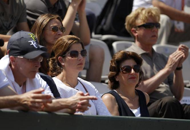 Mirka Federer in tribuna (Reuters)