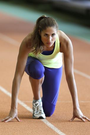 L&#39;atleta Elodie Cloudel, in lizza per una medaglia nel pentathlon moderno alle prossime Olimpiadi di Londra. Nella disciplina, ha raggiunto in tre anni il quinto posto a livello mondiale (Reuters/Charles Platiau)