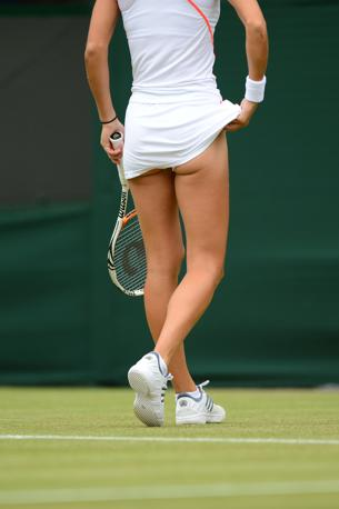 La gambe dell&#39;olandese Arantxa Rus (Afp)