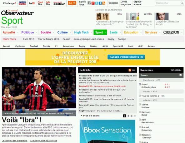 ibra al psg la notizia sui principali siti web francesi