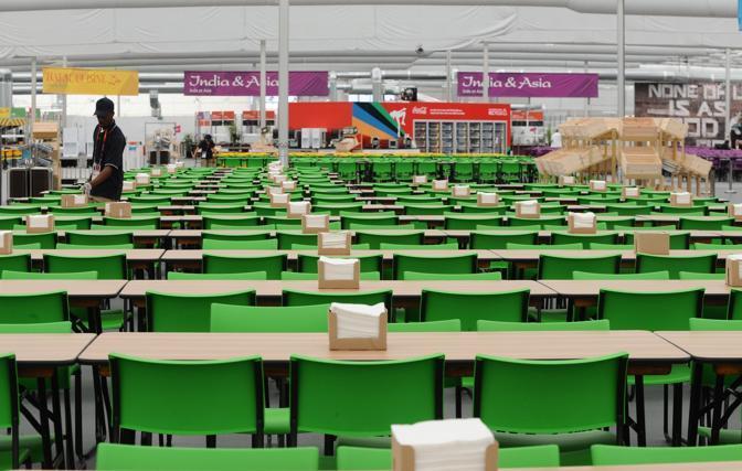 La mensa del Villaggio olimpico (Corbis)