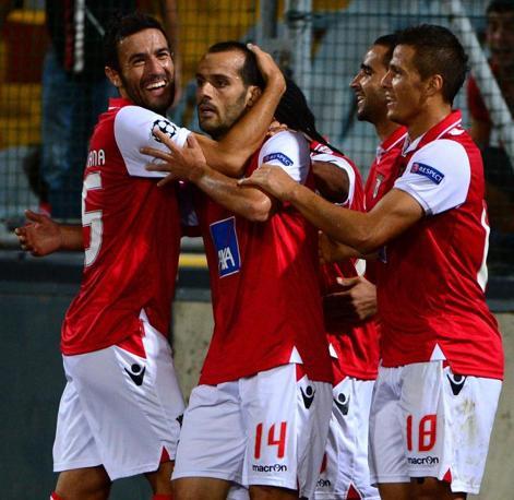 Festa collettiva dopo il gol di Micael (Afp/Morin)