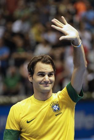Il prezzo medio che i brasiliani hanno pagato per vedere la sfida tra lo svizzero ed il francese Jo-Wilfried Tsonga, numero 8 del ranking mondiale, è di 500 real, circa 200 euro (Ap/Penner)