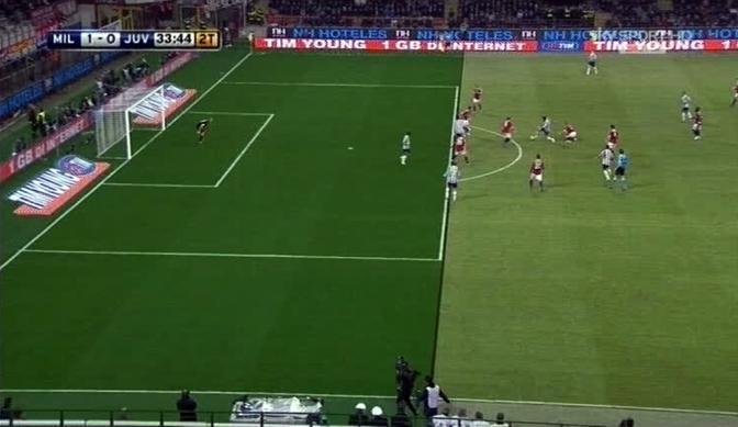 Il gol di Matri annullato per fuorigioco, l'attaccante era partito in posizione regolare (Ansa)