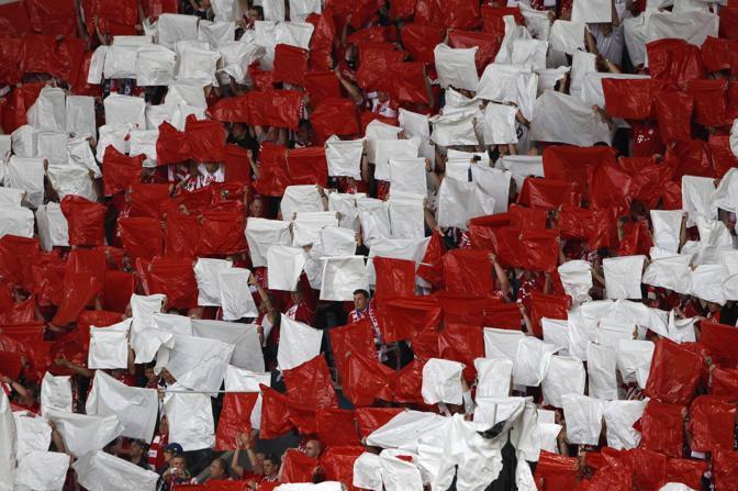 Monaco, finale di Champions: i tifosi del Bayern (Reuters/Rehle)