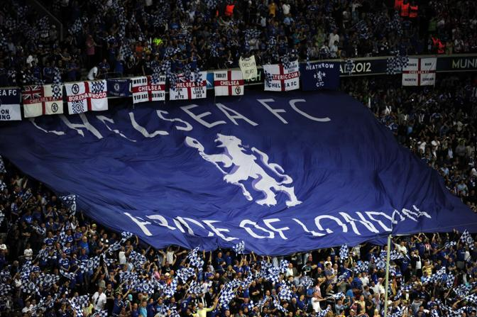 Monaco, finale di Champions: i tifosi del Chelsea (Afp/MacDougall)