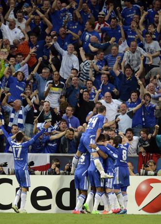 L'esultanza dei giocatori del Chelsea (Afp/Andersen)