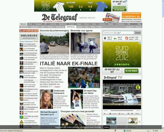 L&#39;italia raggiunge la finale per l&#39;olandese De Telegraaf