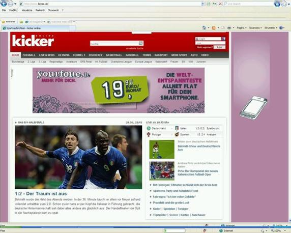 Il sogno  finito su Kicker