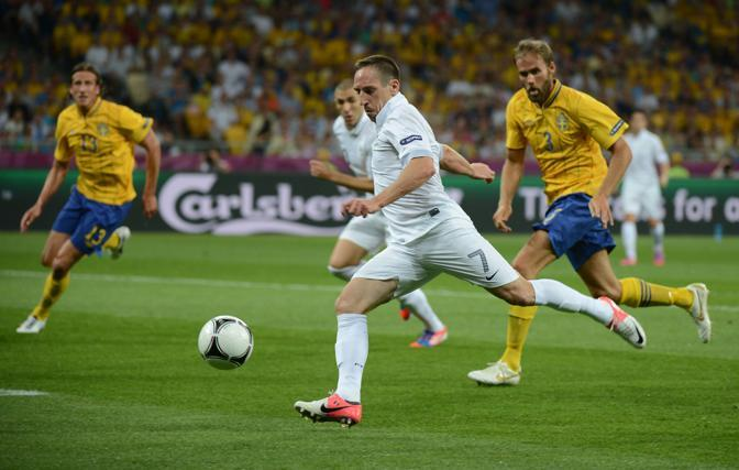 SVEZIA-FRANCIA 2-0 Franck Ribery, mancato protagonista marted sera  (Afp/Meyer)