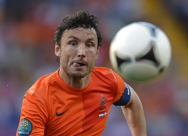 Olanda-Danimarca, la concentrazione di Mark van Bommel (Afp/Monteforte)