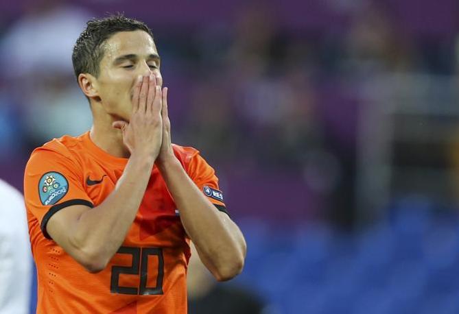 Olanda-Danimarca, la delusione di Afellay dopo una conclusione sbagliata (Reuters/Herman)