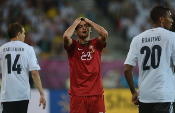Germania-Portogallo, Helder Postiga recrimina dopo un'occasione sbagliata (Afp/Stollarz)