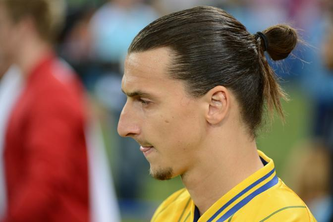L'attacante svedese Ibrahimovic (Afp)