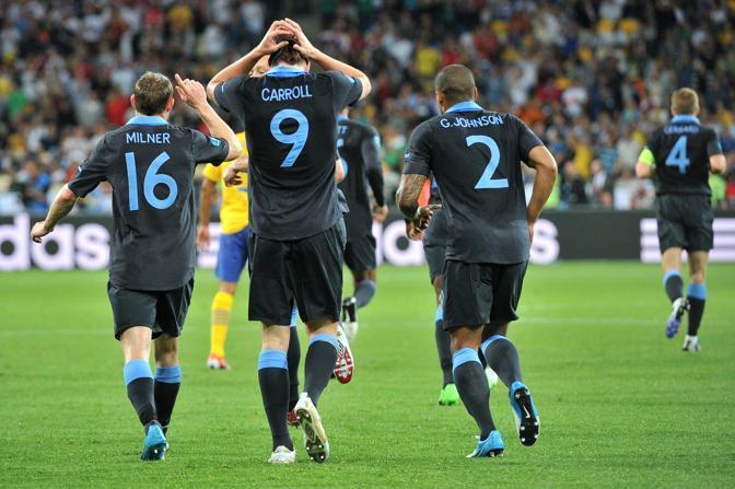 I giocatori dell'Inghilterra  (afp)