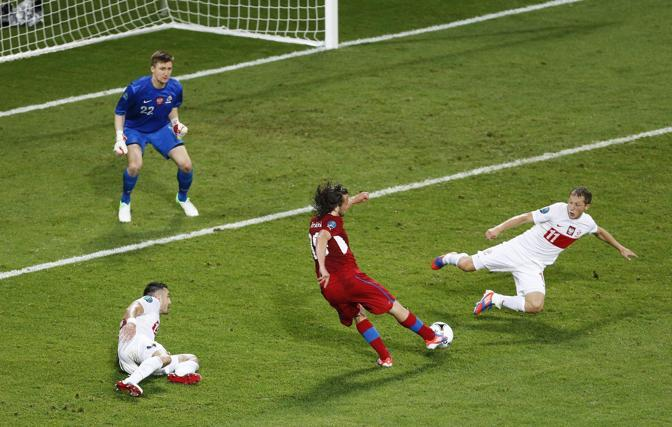 REPUBBLICA CECA-POLONIA 1-0 - Il gol di Jiracek (Epa/Babani)