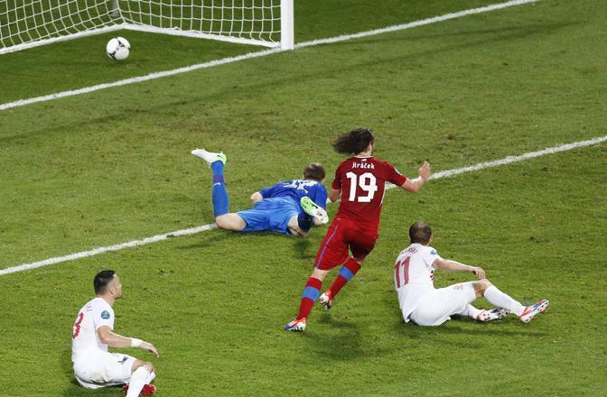 REPUBBLICA CECA-POLONIA 1-0 (Epa/Babani)