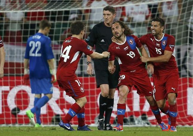 REPUBBLICA CECA-POLONIA 1-0 (Reuters/Perez)