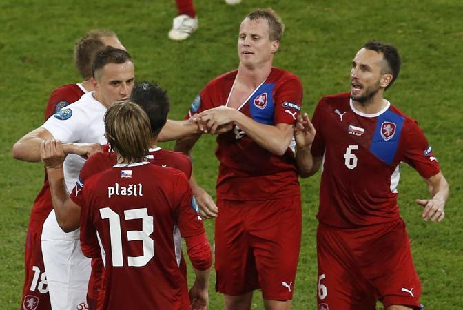 REPUBBLICA CECA-POLONIA 1-0 (Reuters/Jankowski)