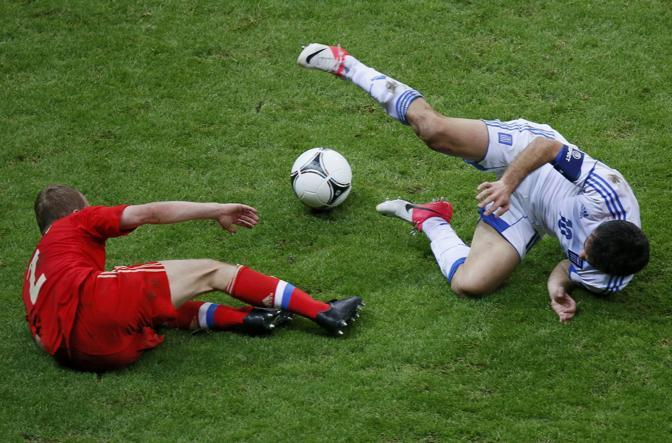 GRECIA-RUSSIA 1-0 - Anyukov e Karagounis (Reuters/Foeger)
