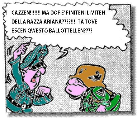 Uno dei fumetti italiani per eccellenza, le Sturmtruppen, usava la satira per raccontare la Seconda guerra mondiale con gli occhi delle truppe d'assalto tedesche. Adesso il lavoro del disegnatore Bonvi viene editato dalla rete, con uno sguardo antirazzista (da Facebook)