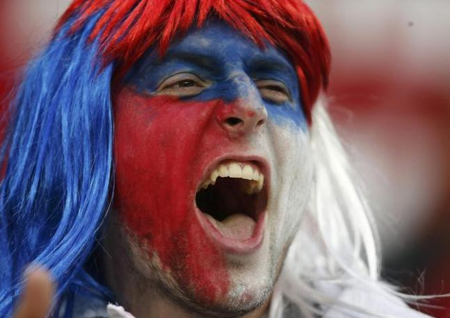 Tifoso imparruccato della Repubblica Ceca (Reuters)