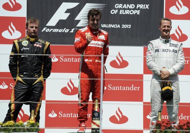 Valencia 2012 podium