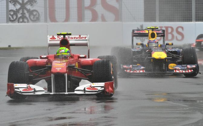 Felipe Massa e Mark Webber (AFP)