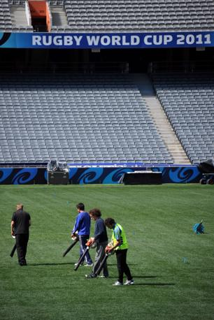 I preparativi all'Eden Park  (Afp)
