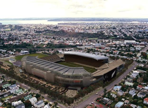L&#39;Eden Park di Auckland, ospiter la finale  e le partite decisive.