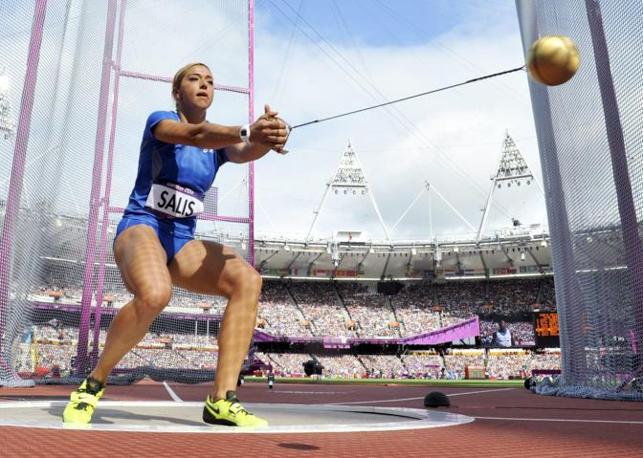 E non ce l'ha fatta nemmeno Silvia Salis: eliminata nelle qualificazioni del lancio col martello (Epa)