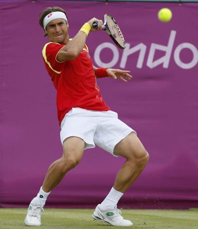 Lo spagnolo Ferrer nel singolo maschile contro il canadese Vasek Pospisil (Reuters)