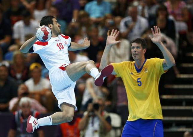 Pallamano, preliminari, un momento del match tra Tunisia e Svezia (Reuters)