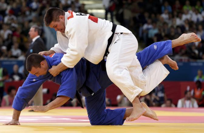 Judo 100kg, il match tra l'ungherese Barna e l'olandese Luuk Verbij (Reuters)