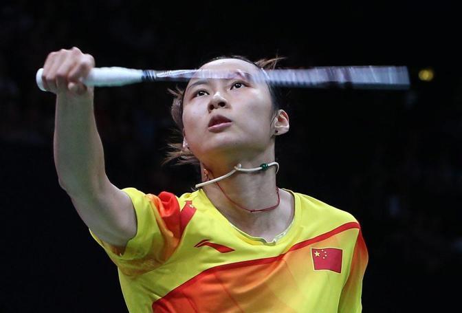 La cinese Yihan Wang del badminton nella semifinale donne (Epa)