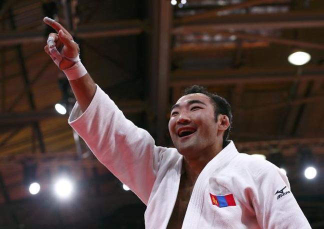 Anche la Mongolia ha la sua medaglia: Nyam-Ochir Sainjargal  vince il bronzo nel judo, categoria 73 kg. (Reuters)