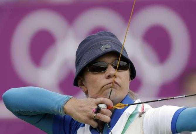 Natalia Valeeva, italiana del tiro con l'arco, fermatasi ai sedicesimi (Ap)