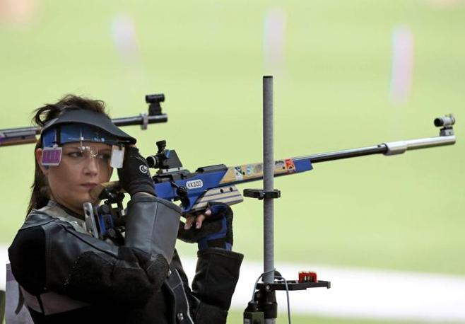 L'italiana Eliana Nardelli  non è riuscita a qualificarsi nella finale di carabina  (Ansa/Lindsey Parnaby)