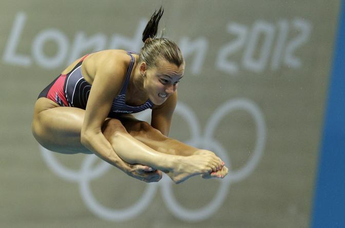 Tania Cagnotto impegnata nella finale dei tuffi dal trampolino (Ap)