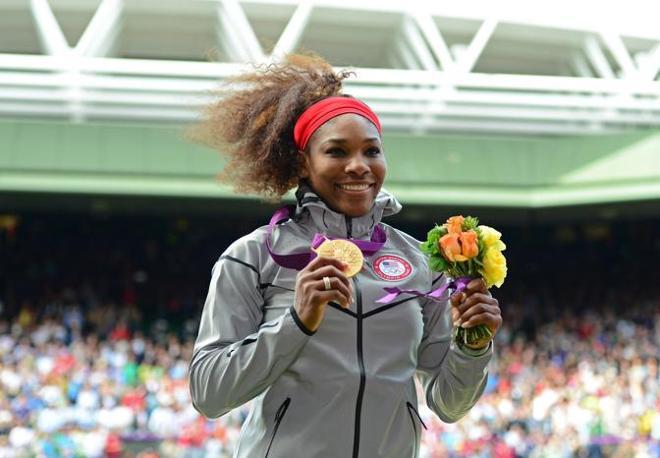 Serena Williams medaglia d'oro nel tennis (Ap)