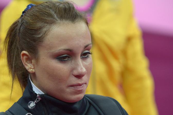 Le lacrime di Vanessa Ferrari a fine gara (LaPresse/D'Alberto)