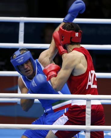 Clemente Russo in semifinale del torneo di boxe dei pesi massimi di Londra 2012 ha sfidato il fortissimo azero Teymur Mammadov (Reuters/Sezer)