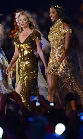 Kate Moss e Naomi Campbell (Afp/Samad)