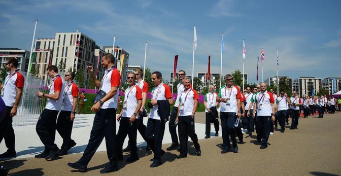 Una parte della delegazione azzurra (Ansa/Onorati)