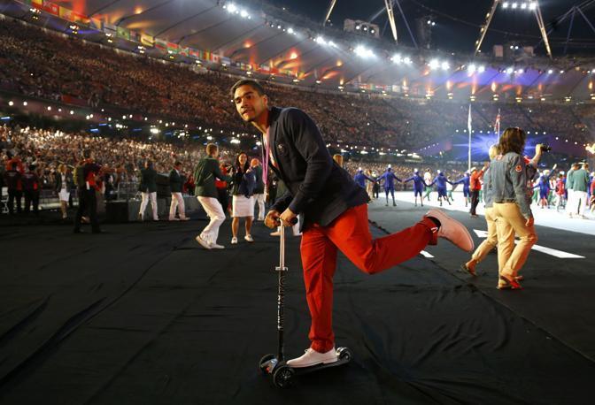 Il ginnasta britannico Louis Smith - tanto l'antidoping ormai non si deve più fare (Reuters/Noble)