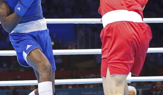 L'incontro di pugilato dei pesi leggeri (60 kg) tra Cina e Cuba
